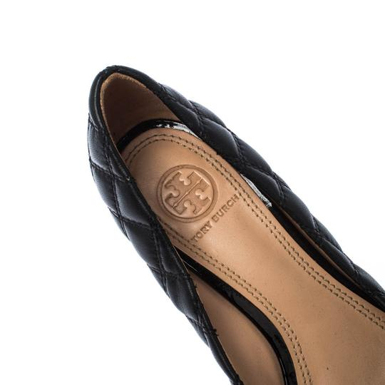 Tory Burch Leather Wedge Black Pumps Image 6