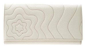 Montblanc MontBlanc Off White Leather Continental Starisma Flap Wallet