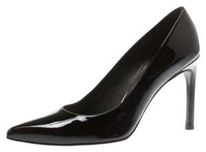 Stuart Weitzman Patent Leather Pointed Toe Leather Black Pumps