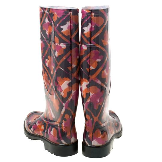 Burberry Rubber Floral Multicolor Boots Image 2