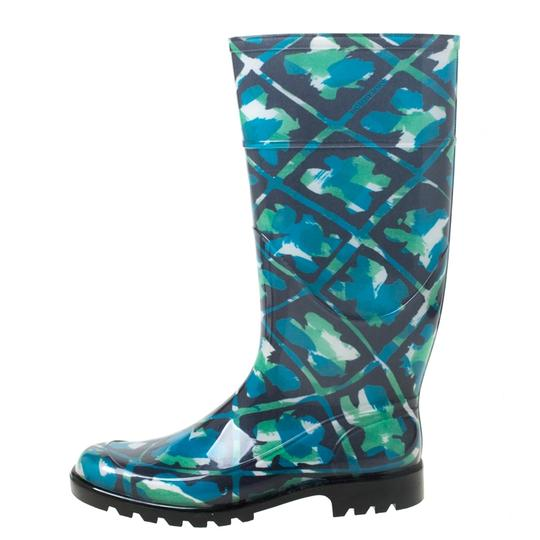 Burberry Rubber Floral Multicolor Boots Image 4