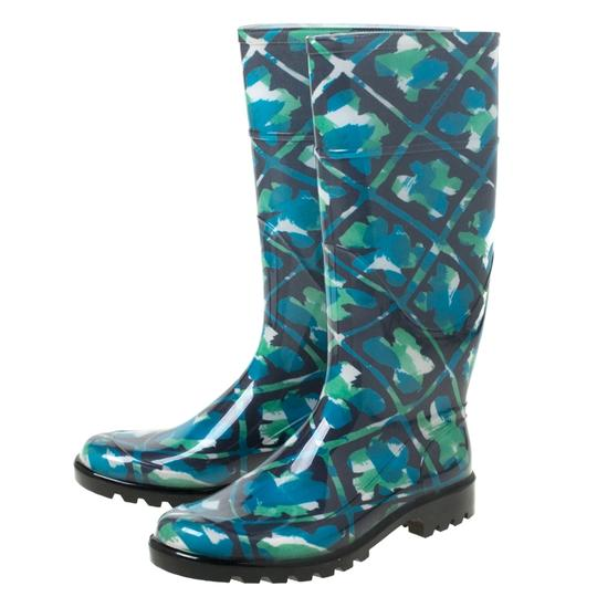 Burberry Rubber Floral Multicolor Boots Image 6