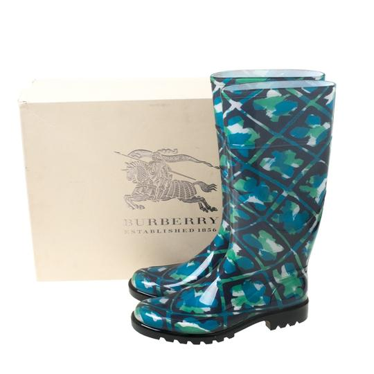 Burberry Rubber Floral Multicolor Boots Image 7