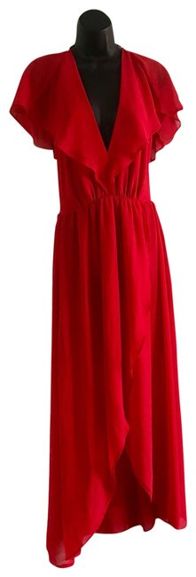 Item - Red High /Low Very Nice Long Cocktail Dress Size 12 (L)