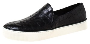 Stuart Weitzman Leather Sneakers Rubber Black Athletic