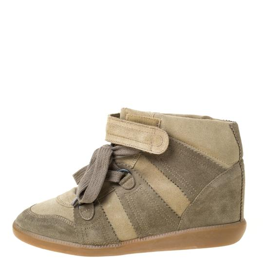 Isabel Marant Suede Lace Wedge Green Athletic Image 1