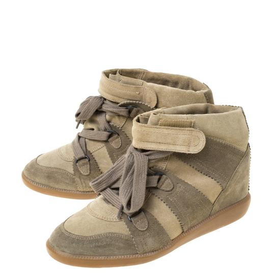 Isabel Marant Suede Lace Wedge Green Athletic Image 5