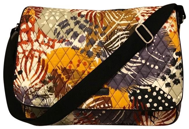 Item - Laptop In Painted Feathers Cotton Messenger Bag