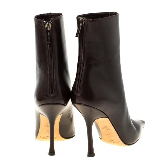 Jimmy Choo Leather Pointed Toe Ankle Brown Boots Image 2