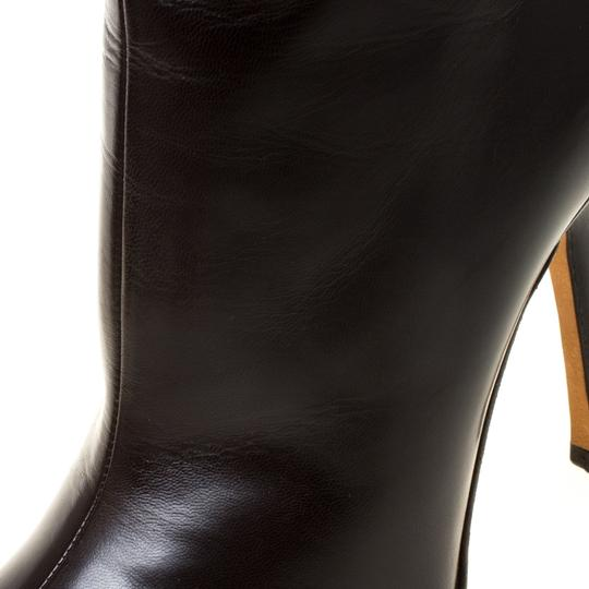 Jimmy Choo Leather Pointed Toe Ankle Brown Boots Image 5