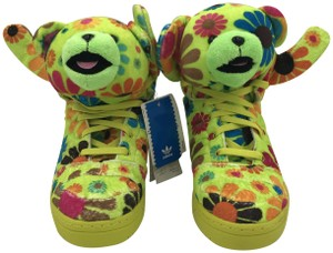 Jeremy Scott Sporty Limited Edition Trendy Sneaker Fun Green and Orange Athletic