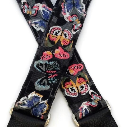 Valentino Multi Butterfly Guitar Strap Image 1