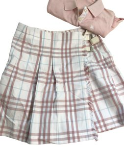 Burberry Mini Skirt cream, pink,blue