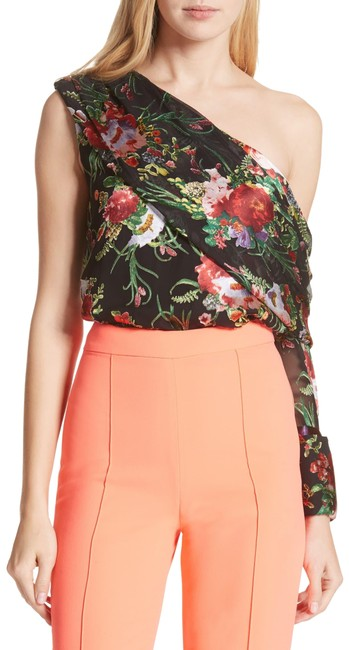 Preload https://img-static.tradesy.com/item/26009287/alice-olivia-black-multi-color-serita-one-shoulder-burnout-silk-floral-print-draped-to-blouse-size-1-0-3-650-650.jpg