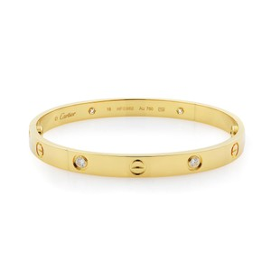 Cartier 4 Diamonds Love Bangle Size 18
