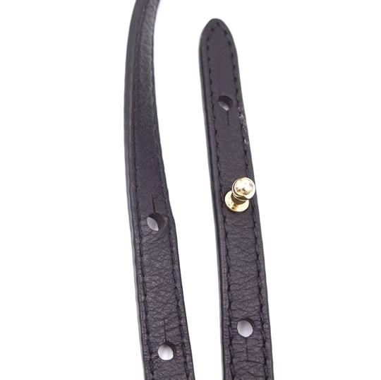 Louis Vuitton black calf leather cross body shoulder strap for palm springs backpack Image 8