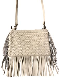 Tommy Bahama Leather Detachable Strap Light Cream Clutch