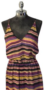 purple, yellow, black and tan Maxi Dress by Joie