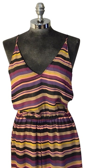 Item - Purple Yellow Black and Tan G34 -30901 Long Casual Maxi Dress Size 6 (S)