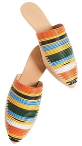 Tory Burch Yellow, orange, green Mules