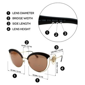 Roberto Cavalli New Montemignaio Rc1086 Women Cat-eye ''circles'' Glitter Sunglasses