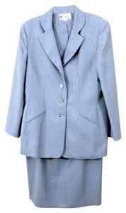 Kasper Style 62700 Two-Piece Blue Polyester Skirtsuit