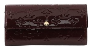 Louis Vuitton Leather Wallet red Clutch