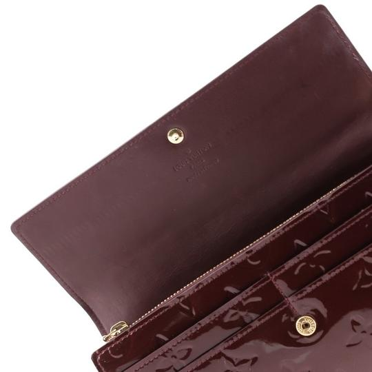 Louis Vuitton Leather Wallet red Clutch Image 4
