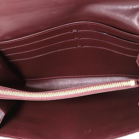 Louis Vuitton Leather Wallet red Clutch Image 6