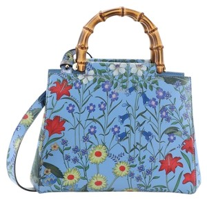 Gucci Leather Tote in floral