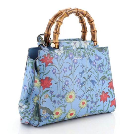 Gucci Leather Tote in floral Image 1