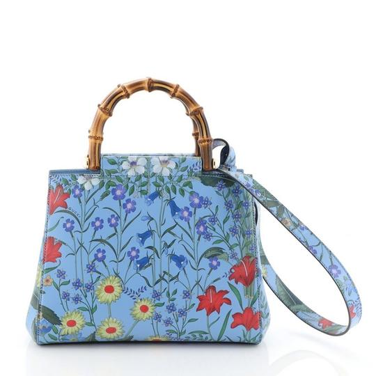 Gucci Leather Tote in floral Image 2