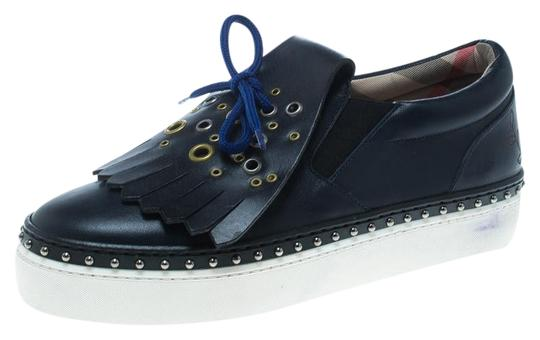 Preload https://img-static.tradesy.com/item/26010366/burberry-blue-navy-leather-kiltie-fringe-slip-on-sneakers-size-eu-37-approx-us-7-regular-m-b-0-1-540-540.jpg