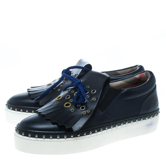Burberry Leather Blue Athletic Image 4