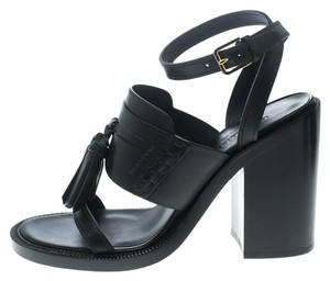 Burberry Leather Detail Black Sandals