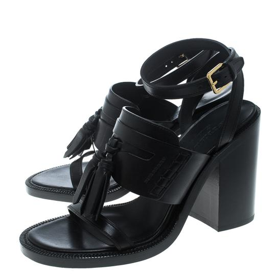 Burberry Leather Detail Black Sandals Image 6