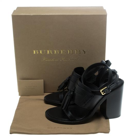 Burberry Leather Detail Black Sandals Image 7