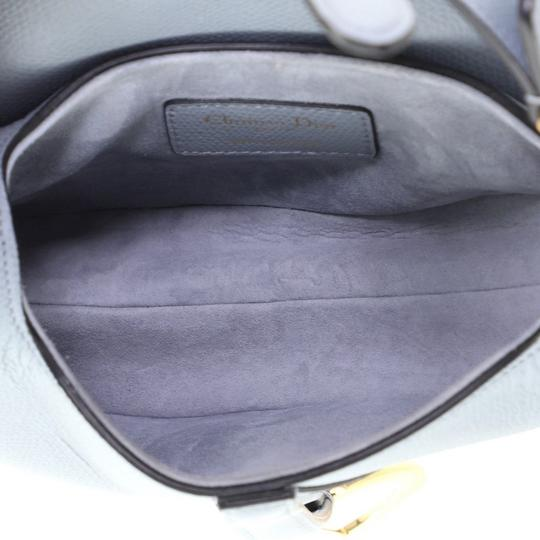 Dior Christian Leather Satchel in blue Image 4