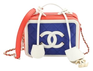 Chanel Leather Vanity Case Cross Body Bag