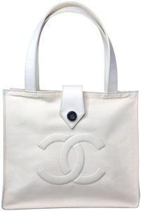 Chanel Minimalist Embossed Vintage Spring Summer Tote in Green