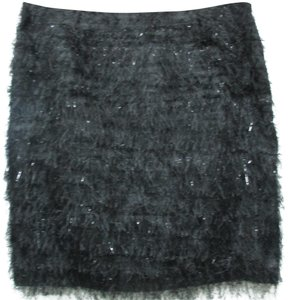 Adam Lippes Fringe Mini Skirt black