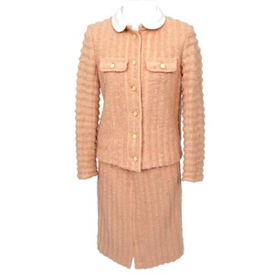 Courreges Courreges Salmon Colored Wool Skirt Suit