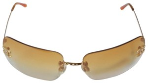 Chanel Coco Rhinestone Logo Coco Mark Tinted Frameless Sunglasses