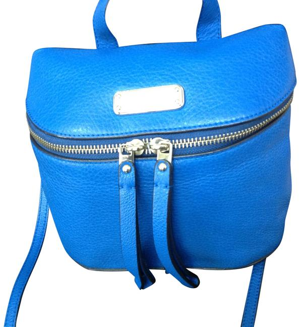 Item - Workwear Canteen Cobalt Blue Leather Cross Body Bag