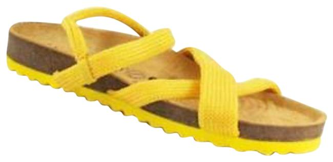 Item - Yellow Santana Knit New Sandals Size US 7 Regular (M, B)