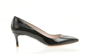 Miu Miu Kitten Glitter Pointed Toe 5i8630 Black Pumps