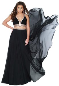 2Cute Full Length Chiffon Prom Dress