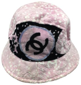 Chanel Chanel CC Pink Terry Cloth Bucket Hat