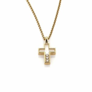 Chopard Happy Diamond 18k Yellow Gold Cross Pendant & Chain Necklace​