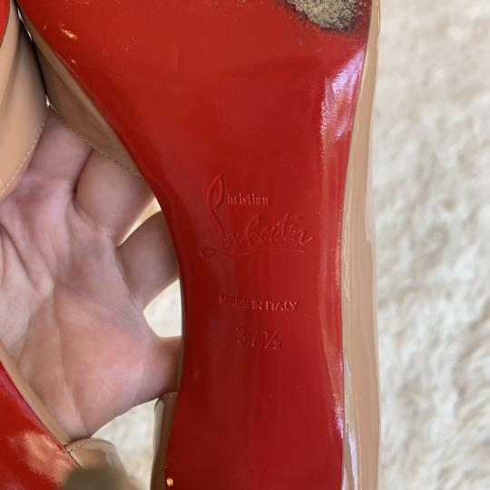 Christian Louboutin Patent Leather Work Pointed Toe Heels Nude Pumps Image 2